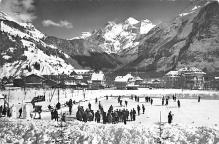 spo009A013 - Kandersteg Switzerland, Curling Postcard Post Card