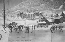 spo009A027 - Wengen Palace hotel National Curling  postcard
