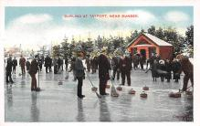 spo009A029 - Tayport, Scotland, Near Dundee Scotland Curling Postcard