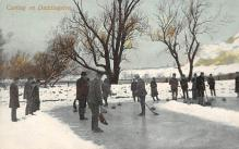 spo009A055 - Duddingston, Scotland Curling Postcard