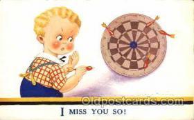 spo010002 - Artist Vera Paterson, Dart Darts postcard postcards