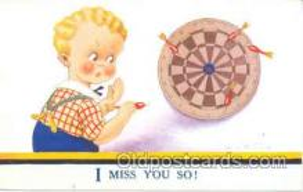 spo010011 - Artist Vera Paterson, Dart Darts postcard postcards