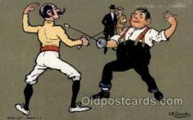 spo011002 - Artist Ch. Beauvais, Fencing Postcard Postcards