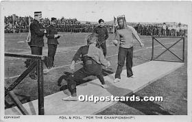 spo011024 - Old Vintage Fencing Postcard Post Card