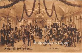 Heidelberg, Mensur auf der Hirschgasse