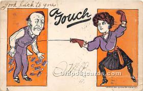 spo011040 - Old Vintage Fencing Postcard Post Card