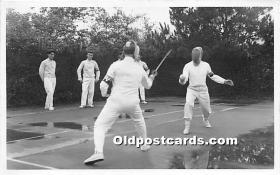 spo011042 - Old Vintage Fencing Postcard Post Card