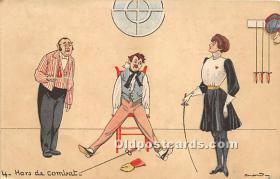 spo011046 - Old Vintage Fencing Postcard Post Card