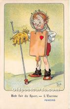 spo011048 - Old Vintage Fencing Postcard Post Card