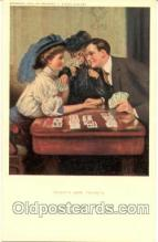 spo012136 - Frederick A. Strokes Company, Hearts are Trumps, Gambling Postcard Postcards