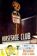 spo012185 - Horseshoe Club in Reno Nevada Postcard Postcards
