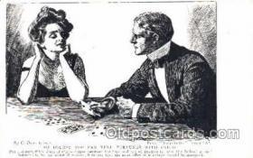 spo012233 - Artist Dana Gibson Gambling, Cards Postcard Postcards