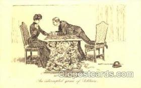 spo012234 - Artist Dana Gibson Gambling, Cards Postcard Postcards