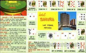 spo012241 - Sahara Hotel Las Vegas, Nevada USA Gambling, Cards Postcard Postcards