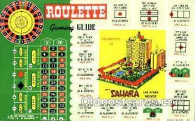 spo012244 - Sahara Hotel Las Vegas, Nevada USA Gambling, Cards Postcard Postcards