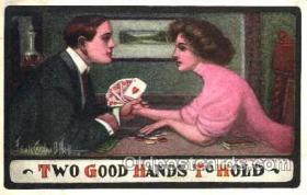 spo012308 - Artist Frank O'Neill Gambling Postcard Postcards