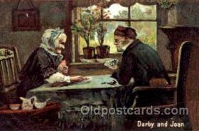 spo012329 - Darby & Joan Gambling Postcard Postcards
