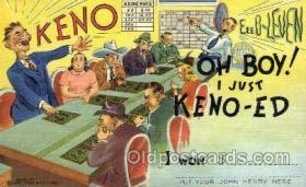 spo012384 - Gambling Postcard Postcards