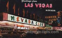 spo012457 - Nevada Club Gambling Postcard Postcards