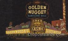spo012458 - Golden Nugget Gambling Hall Gambling Postcard Postcards