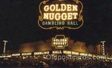 spo012474 - Golden Nugget Gambling Hall Gambling Postcard Postcards