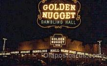 spo012478 - Golden Nugget Gambling Hall Gambling Postcard Postcards