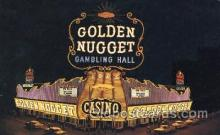 spo012507 - Golden Nugget Gambling Hall Gambling Postcard Postcards