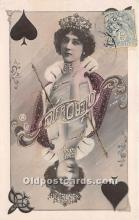 spo012519 - Old Vintage Gambling Postcard Post Card