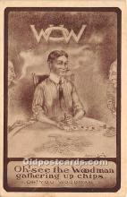 spo012520 - Old Vintage Gambling Postcard Post Card