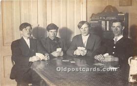 spo012525 - Old Vintage Gambling Postcard Post Card