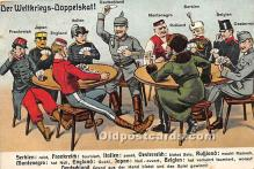 spo012531 - Old Vintage Gambling Postcard Post Card