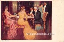spo012541 - Old Vintage Gambling Postcard Post Card