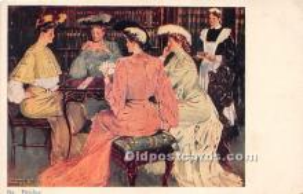 spo012542 - Old Vintage Gambling Postcard Post Card