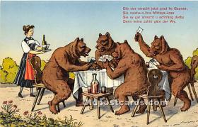 spo012547 - Old Vintage Gambling Postcard Post Card
