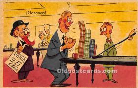 spo012561 - Old Vintage Gambling Postcard Post Card
