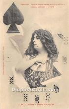 spo012567 - Old Vintage Gambling Postcard Post Card