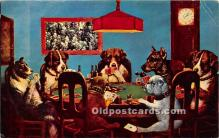 spo012570 - Old Vintage Gambling Postcard Post Card