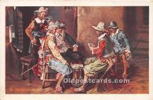 spo012572 - Old Vintage Gambling Postcard Post Card