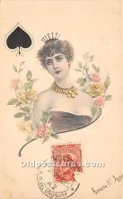 spo012578 - Old Vintage Gambling Postcard Post Card