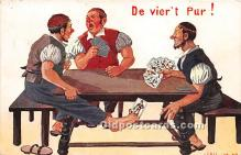spo012580 - Old Vintage Gambling Postcard Post Card