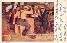 spo012586 - Old Vintage Gambling Postcard Post Card