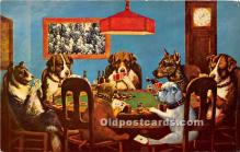 spo012587 - Old Vintage Gambling Postcard Post Card