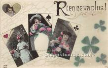 spo012595 - Old Vintage Gambling Postcard Post Card