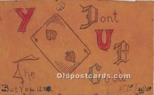spo012600 - Old Vintage Gambling Postcard Post Card