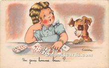 spo012605 - Old Vintage Gambling Postcard Post Card