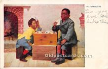 spo012616 - Old Vintage Gambling Postcard Post Card