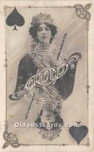 spo012622 - Old Vintage Gambling Postcard Post Card