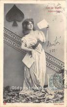 spo012623 - Old Vintage Gambling Postcard Post Card