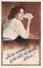 spo012626 - Old Vintage Gambling Postcard Post Card