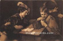 spo012635 - Old Vintage Gambling Postcard Post Card